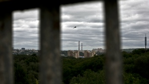 Apartment blocks are shown in Chisinau, Moldova on May 28, 2015. Repeated attempts to sell radioactive materials signal that a thriving nuclear black market has emerged in this impoverished corner of Eastern Europe on the fringes of the former Soviet Union. (AP / Vadim Ghirda)