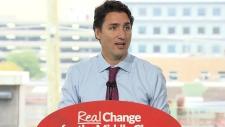 Trudeau campaign event