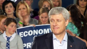 Stephen Harper said Wednesday a Tory government would provide up to 18 months of job protection for new parents, up from the current federal Labour Code provisions that grant that protection for a year.