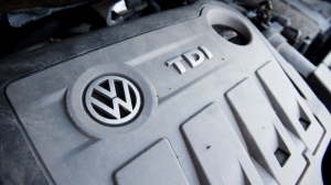 A Volkswagen Touran with the 2.0l TDI EA189 type Diesel engine, one of the engines named in the Volkswagen scandal involving manipulated data in emissions tests, in Sehnde, Germany, 03 October 2015. (EPA / JULIAN STRATENSCHULTE)
