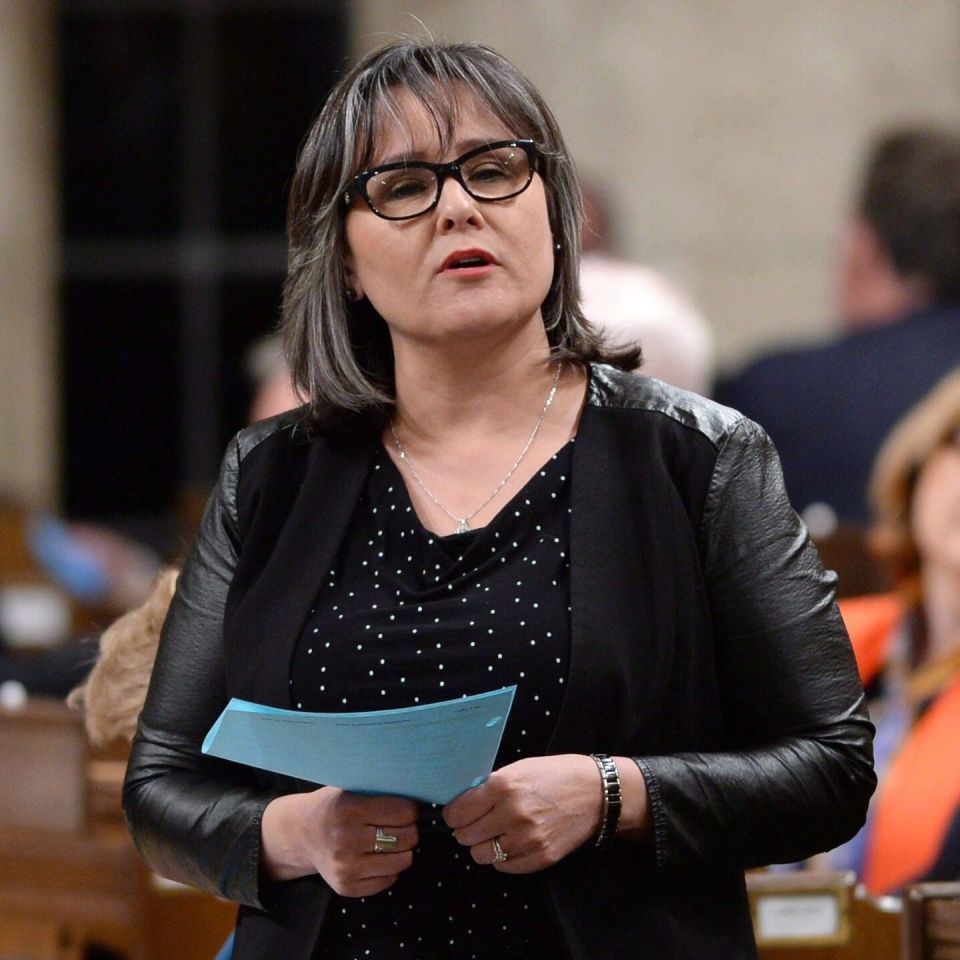 Environment Minister Leona Aglukkaq answers a question during question period in the House of Commons on Parliament Hill in Ottawa on Monday, May 25, 2015. (Sean Kilpatrick / THE CANADIAN PRESS)