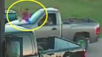 Extreme road rage: Suspect pounds truck with rifle
