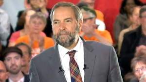 Tom Mulcair in Toronto