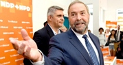 NDP Leader Tom Mulcair on the campaign trail