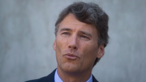 Vancouver mayor Gregor Robertson speaks in Vancouver, B.C., on September 10, 2015. Robertson has trashed the Harper government's record on climate change in front of a distinguished audience at the U.S. State Department. (THE CANADIAN PRESS/Darryl Dyck)