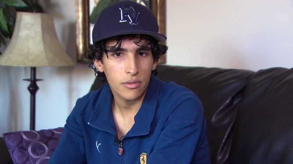 Hany Al Moliya is legally blind. He has nystagmus, a debilitating eye condition which causes everything to be out of focus unless it's near his face.