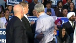 Canada AM: Protester runs towards Harper
