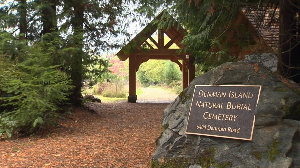 denman island green cemetery