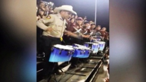 Drumming U.S. deputy doesn't miss a beat