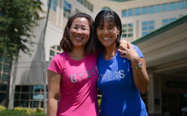 Reunited sisters