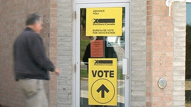 Polling station in Barrie, Ont.