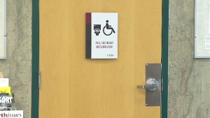 Edmonton Catholic Schools requires schools to have all-gender washrooms. The school board will hold a meeting over a controversy stemming from the policy on Tuesday.