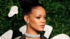 Barbadian pop star Rihanna is pictured. (AFP PHOTO/JUSTIN TALLIS)