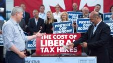 Conservative Leader Stephen Harper in Waterloo