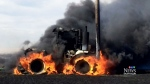 CTV Saskatoon: Farmer survives tractor fire