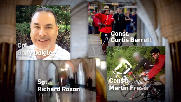 The RCMP has still not recognized Const. Curtis Barrett, Const. Martin Fraser, Sgt. Rick Rozon and Corp. Dany Daigle for their parts in taking down Parliament Hill gunman Michael Zehaff Bibeau, on Oct. 22, 2014.