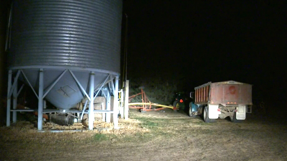 Three girls are dead after suffocating on a farm near Withrow, Alta., Tuesday, Oct. 13, 2015.
