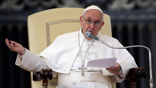 Pope Francis in St. Peter's Square at the Vatican