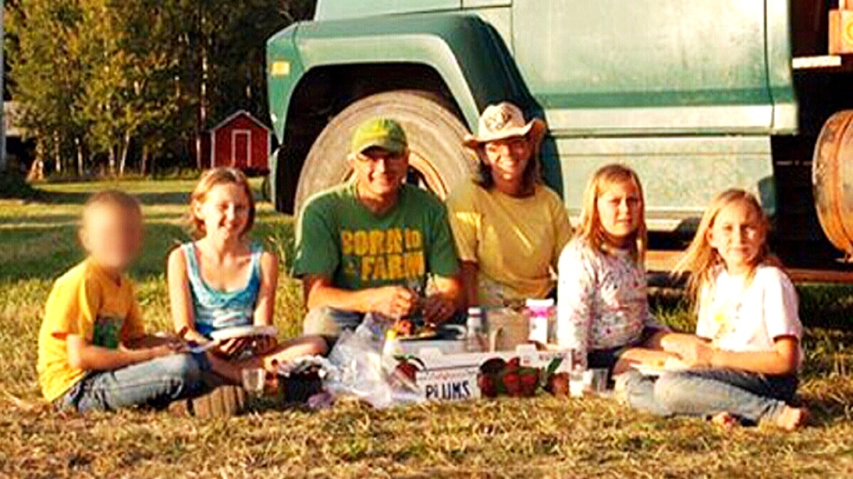 The Bott family is seen in this undated family photo. Daughters Catie, Jana and Dara were killed in a farming incident on Tuesday, Oct. 13, 2015.