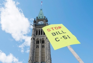 Bill C-51 protest on Parliament Hill