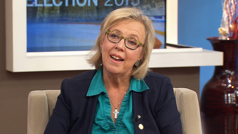 Green Party Leader Elizabeth May speaks to CTV's Canada AM on Friday, Oct. 16, 2015.