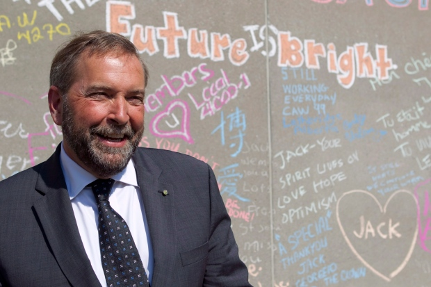 Tom Mulcair at Layton memorial