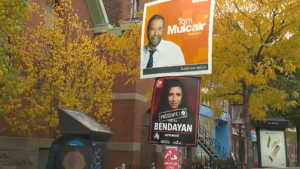 Liberal candidate Rachel Bendayan is trying to turn the Outremont riding red again; Tom Mulcair has represented it since 2007.