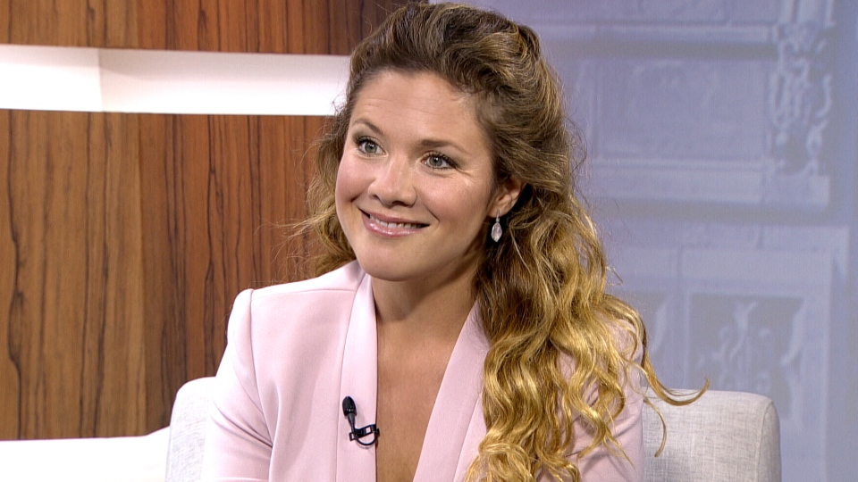 Sophie Gregoire-Trudeau, Justin Trudeau's wife, appears on CTV's Question Period, Sunday, Oct. 18, 2015.