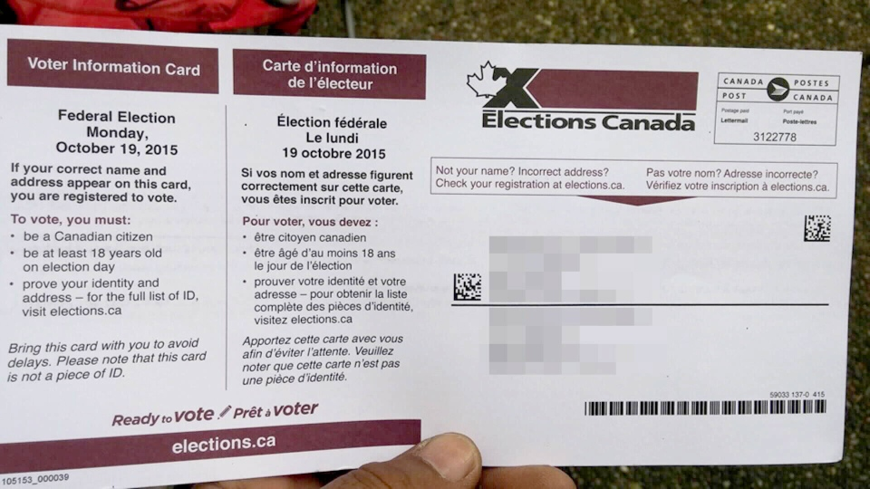 David Braganza, a permanent resident living in Surrey, received a voter information card in the mail even though he can't legally vote. Oct. 17, 2015. (CTV)
