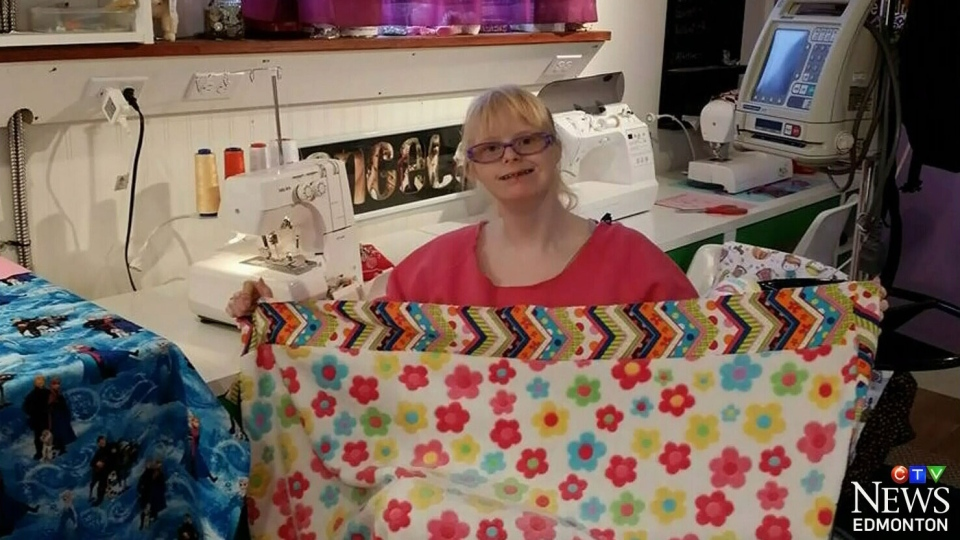 Angel Magnussen, 19, has sewn more than 500 blankets for critically ill children across the world, and she hopes Ellen DeGeneres will accept her gift.