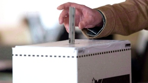A man casts his vote in the 2011 federal election in Toronto on May 2, 2011. (Chris Young / THE CANADIAN PRESS)