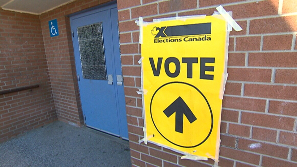 Elections Canada is encouraging voters to take their 'voting selfies' outside the polling station.