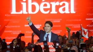 Liberal Leader Justin Trudeau speaks