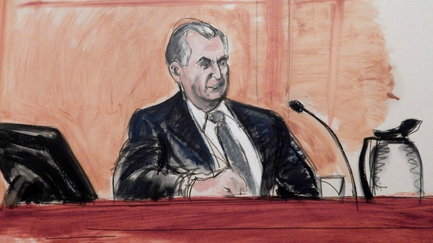 Image result for courtroom sketch italian mafia