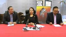 Chief Derek Nepinak and Chief Sheila North Wilson