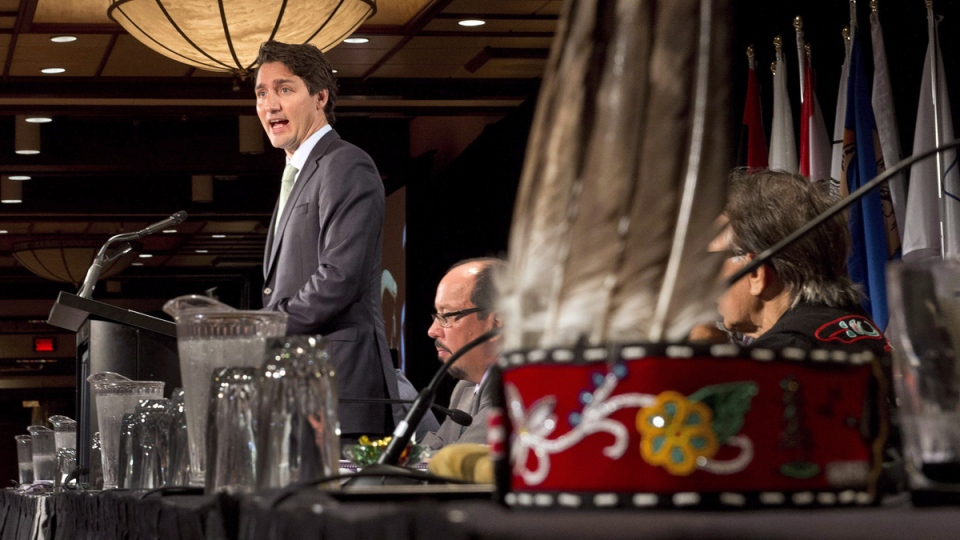 Trudeau speaks to Assembly of First Nations