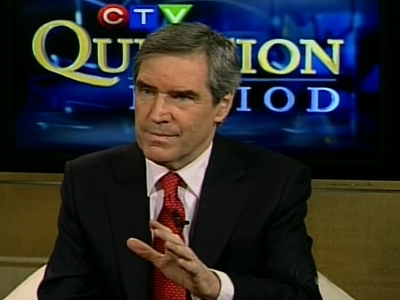 Liberal leadership candidate Michael Ignatieff speaks with CTV's Question Period on Sunday, Nov. 30, 2008.