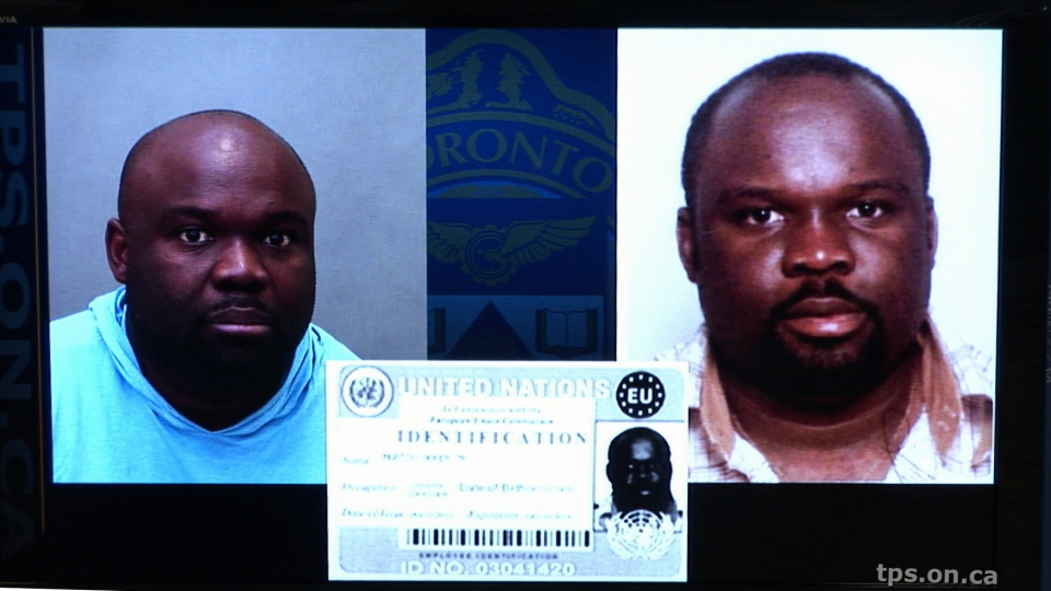 Akohomen Ighedoise is shown in these Toronto Police Service handout photos.