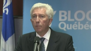 For the second time, Gilles Duceppe faced the public and announced his retirement from politics, four years after he first did so (Oct. 22, 2015)