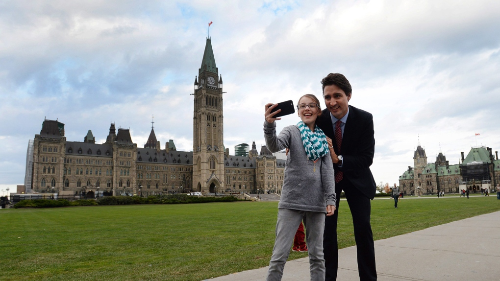 Justin Trudeau on Parliament Hill in Ottawa
