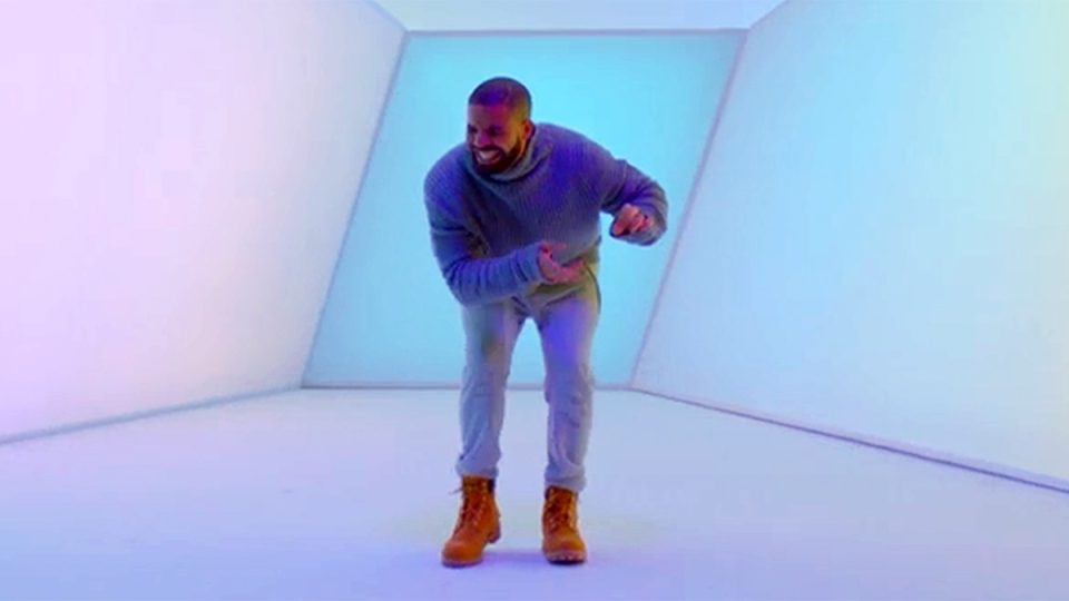 Drake in a still image from the music video for 'Hotline Bling'. (Cash Money Records / Republic Records)