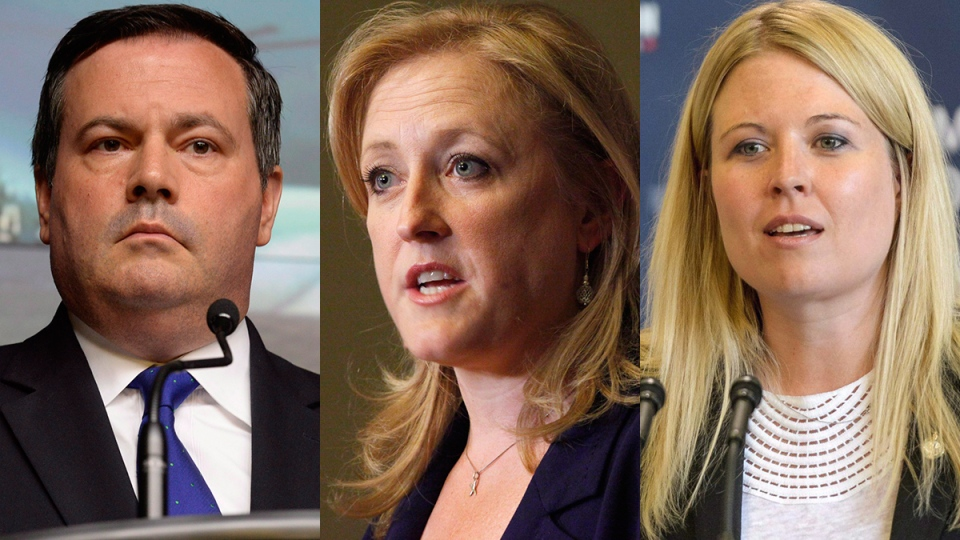 In this composite image, Conservative MPs Jason Kenney, left to right, Lisa Raitt and Michelle Rempel are pictured. (Matt Smith / Adrian Wyld / Patrick Doyle / THE CANADIAN PRESS)