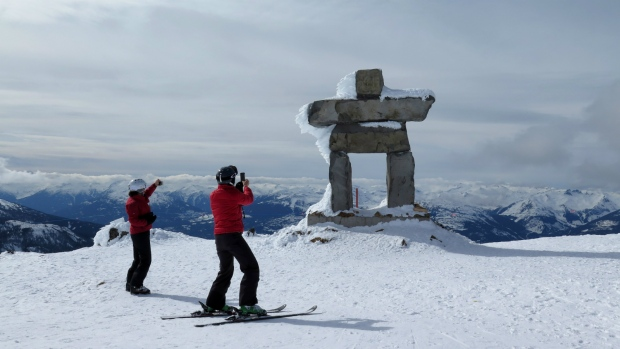 Whistler mountain is seen on Thursday, March 13, 2014. (Jonathan Hayward / THE CANADIAN PRESS)