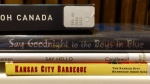 A book-spine poem spells out a message from the Kansas City Public Library to Toronto. (@KCLibrary / Twitter)