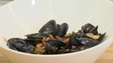 Now You're Cooking: Sea mussels in white wine