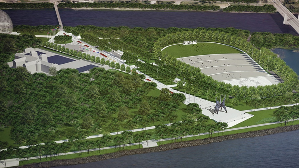 An artist's conception of the Jean Drapeau Park amphitheatre