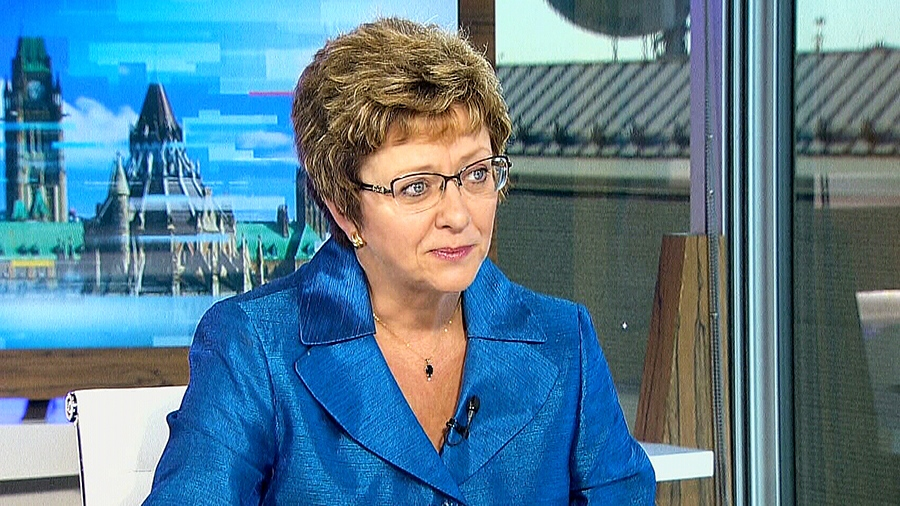 Conservative MP Diane Finley speaks about the party's loss, on CTV Power Play in Ottawa, on Friday, Oct. 23, 2015.