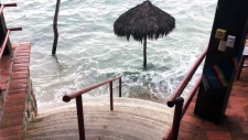 Flooded resort in Mexico