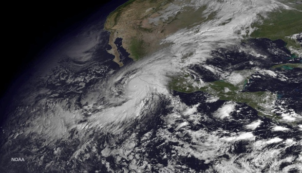 Mexican Mountains Shred Hurricane Patricia