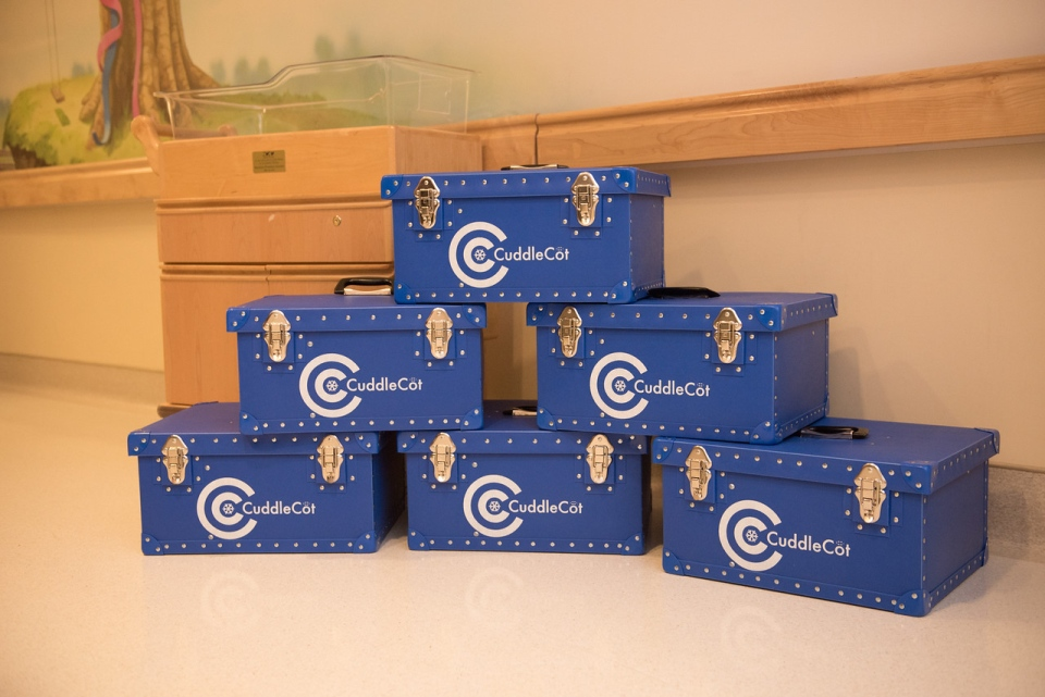 CuddleCots cost around $3,000, and are manufactured by the British company Flexmort. (Marissa Veenbaas .